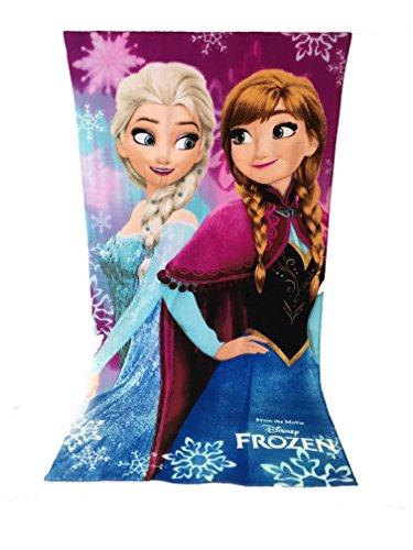 Reine des neiges Serviette de Plage, Drap de Plage en Microfibre - 70x140 cm - Frozen Disney