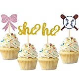Purp Pie Cupcake Topper for Gender Reveal Party,...