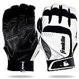 Franklin Sports MLB Adult Shok-Sorb Neo Batting Gloves, White/Black, Medium