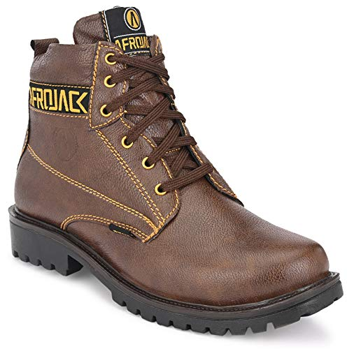 AFROJACK Cat Men's Fashion Boots Brown