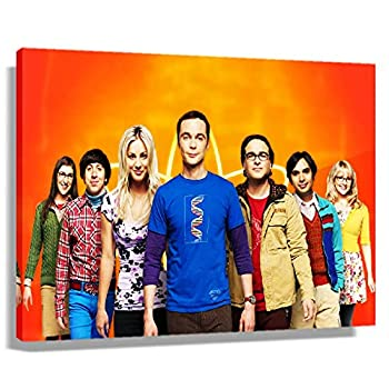 The Big Bang Theory Season Movie Poster Decor for Bedroom Picture Art Canvas Painting for Wall Decoration Contemporary Prints Decorative Artwork for Kitchen Rectangular Canvas Pics Printing Pictures  45x30cm 18x12inch ,Unframed