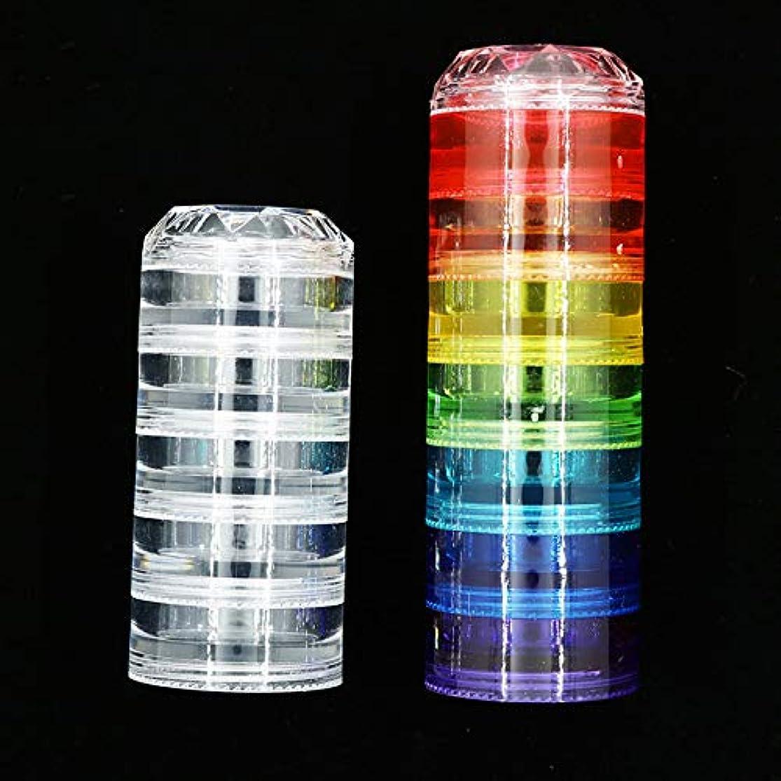 パニック聖職者許される新しいダイヤモンドシャム空箱セット12層レインボー多色ネイルジュエリーアクセサリー収納ボックス小さな部品瓶ツール