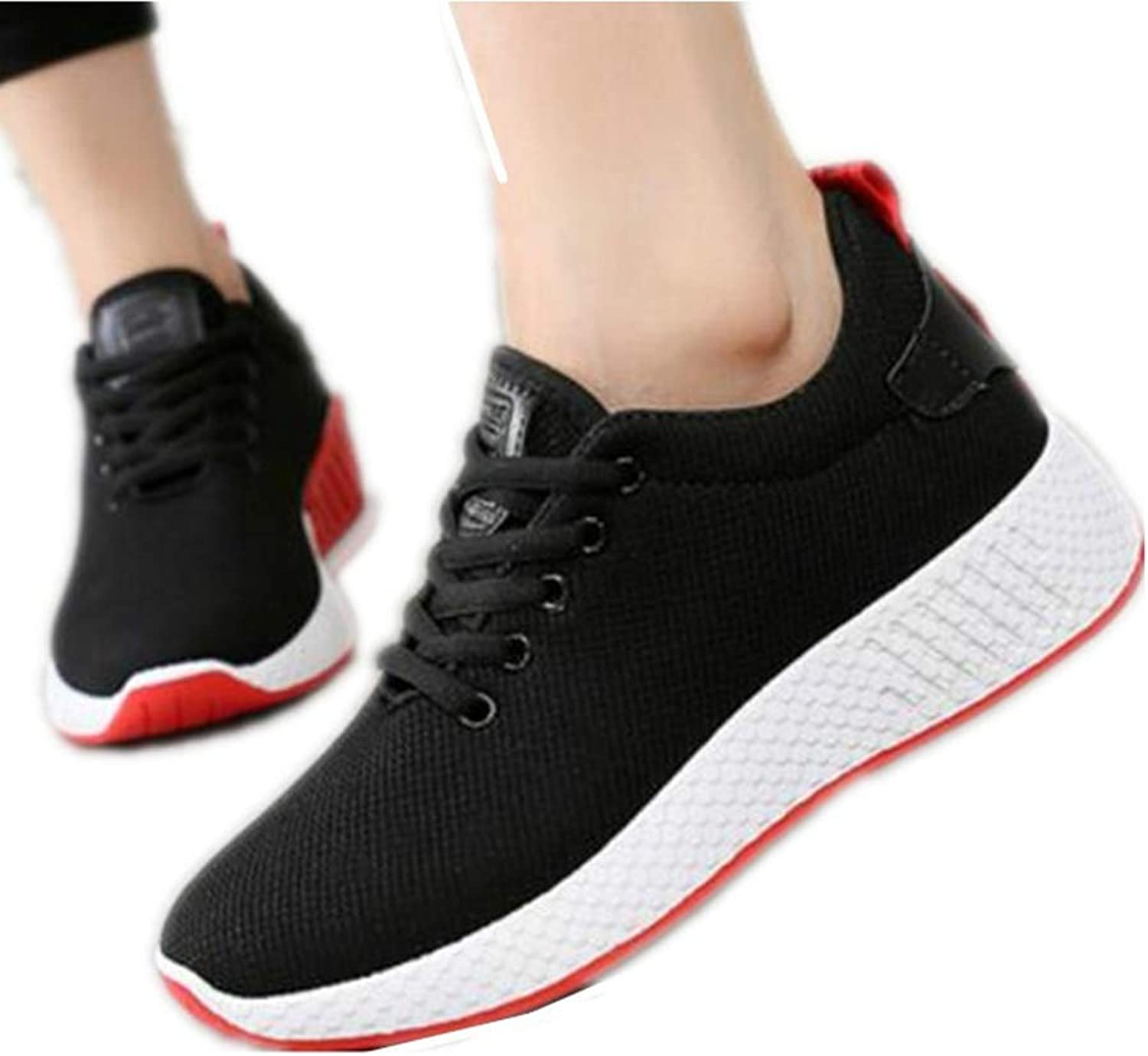 SANOMY Women Comfortable Sneakers Breathable Air Mesh Sporting Walking shoes Casual Fabric Wedges Sneakers