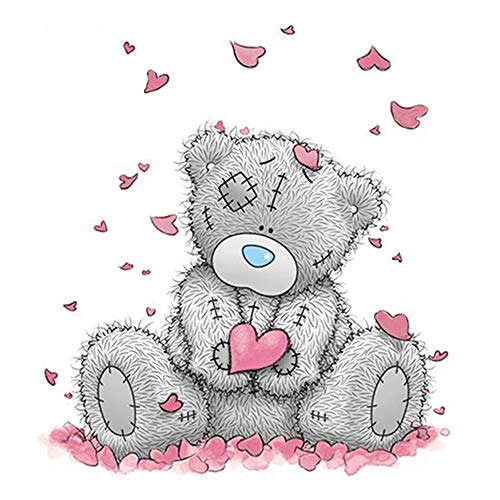 Diamond Painting Kits for Adults Teddy Bear DIY 5D Round Full Drill Art Perfect for Relaxation and Home Wall Decor(11.8inX11.8in)