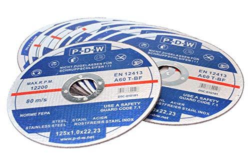 25 Stück Inox Trennscheiben 115 x 1,0 x 22,23 mm für Winkelschleifer / Flex, EN12413, A60 T-BF