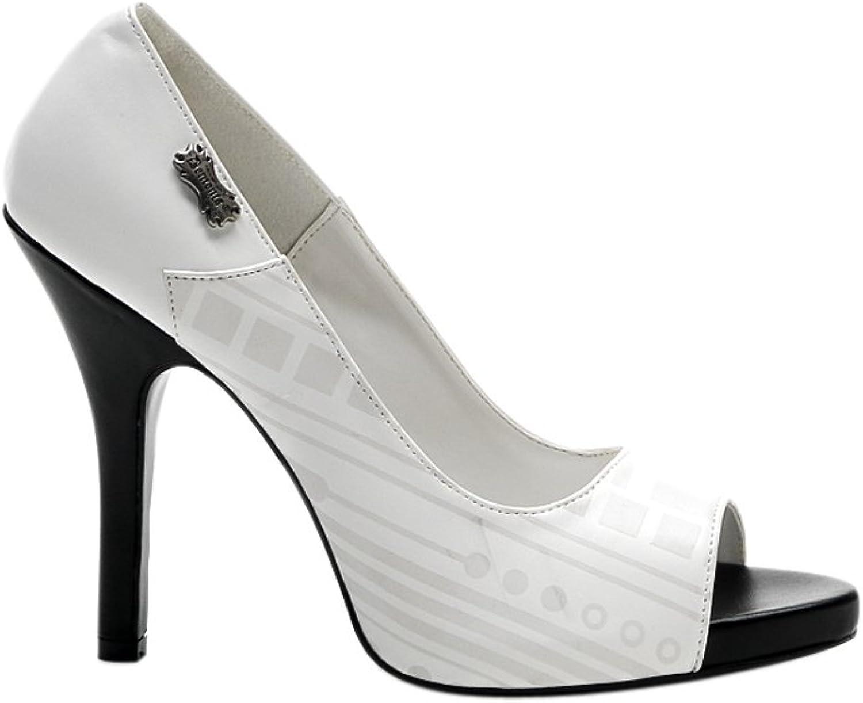 Demonia ZOMBIE-06UV, Peep Toe Pump With Cyber UV Print shoes