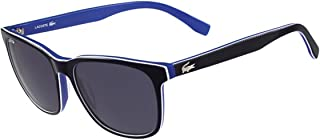 Lacoste Unisex L833S Rectangular Sunglasses, Blue, 55 mm