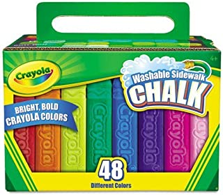 Washable Sidewalk Chalk, 48 Assorted Bright Colors, Sold as 1 Each