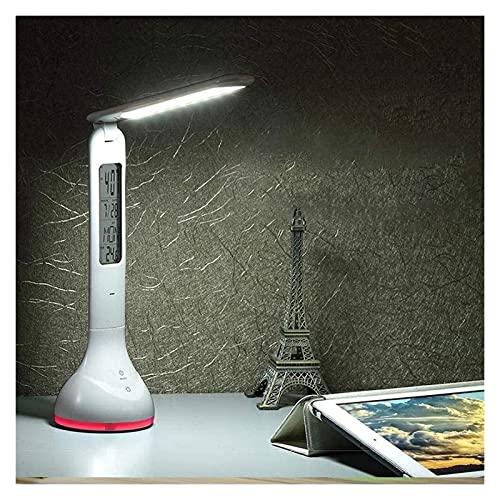 Lámpara Escritorio Luz táctil, lámpara de escritorio LED moderna, protección, regulable de bajo consumo, lámparas, pantalla LCD, lámpara de escritorio LED, temperatura de 7 colores x 3 niveles de bril