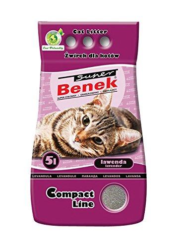 Super Benek Litière compacte pour Chat Odeur Lavande