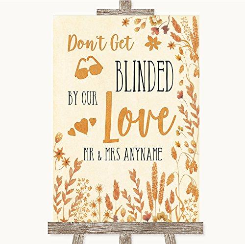 Herfst bladeren collectie herfst bladeren niet worden verblind zonnebril bruiloft teken Small A5 Black/Gold/White