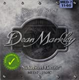 Dean Markley DM-2505C-MED - Juego de cuerdas para guitarra eléctrica de acero de níquel, 11-60