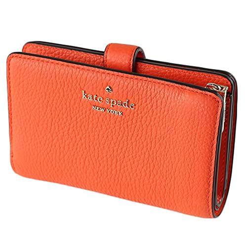 Kate Spade New York Leila Medium Campact Bifold Wallet In Coral Buds