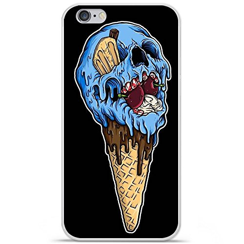 Cover per Apple iPhone 6/6S, in silicone gel, protezione posteriore Ice Cream Skull
