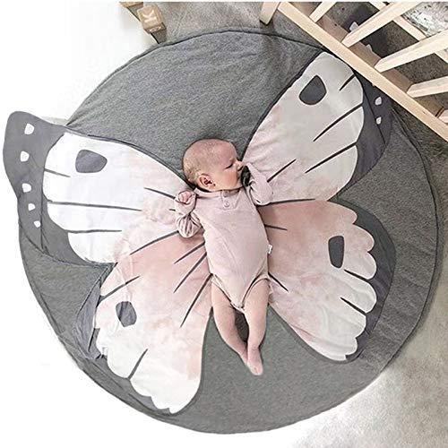 Papillon Tapis éveil Jeu Bébé Rond Animaux Moquette Enfant Tapis Chambre Bebe Fille Garcon Cadeau AMTBU