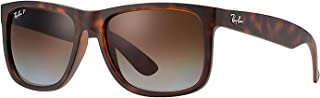 RB Justin Sunglasses (55 mm, Matte Tortoise Frame Polarized Brown Lens)