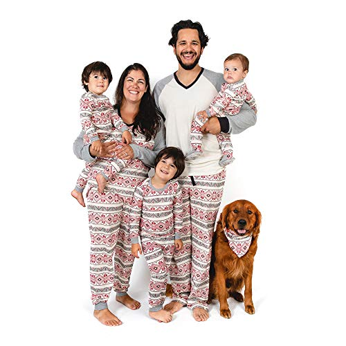 Burt's Bees Baby Family Jammies, Holiday Matching Pajamas, 100% Organic Cotton PJs, Aspen Cabin, Sleeper: 0-3 Months