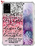 S20 Ultra Case & MUQR Gel Silicone Slim Drop Proof Protection Cover Compatible for Samsung Galaxy S20 Ultra 5G 6.9 Inches & Silicone Christian Rubber Protective Bible Songs Lyrics