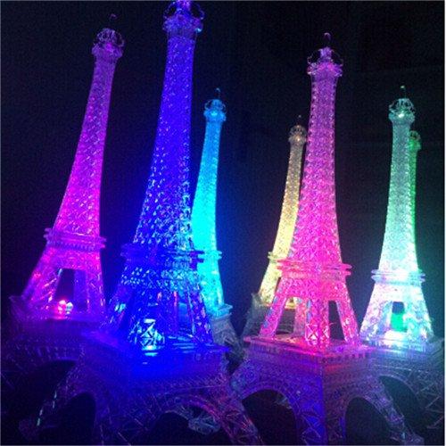 Bluelover 25,5 Cm LED Couleurs Changeantes Tour Eiffel Nuit Lumière Lumières Décoratives Romantique Cadeau Décor