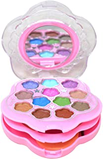 T.Y.A GOOD CHOICE INDIA Makeup Kit, 12 Eyeshadow, 2 Blusher, 2 Compact, 4 Lip Color, (6150-2), 18g With Hand Cleanser Sana...