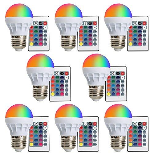 XJLED ultima RGB E273W, AC85–265V, 150lm geführte lampadine colorate Cambiare l' alta luminosità AC85–265V Faro con un telecomando luce decorativa