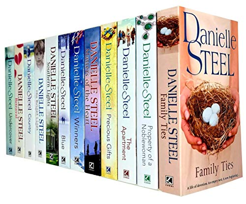 Danielle Steel Collection 12 Books Set (Family Ties, Property of a Noblewoman, The Apartment, Precious Gifts,Matters of the Heart,Winners, Blue,Southern Lights,His Bright Light,Country and More)