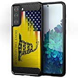 CasesOnDeck Case Compatible with Samsung Galaxy S21 (6.2 Screen) / S21 5G - Soft Fitted Flexible TPU Cover Shock Protection (Dont Tread On Me)