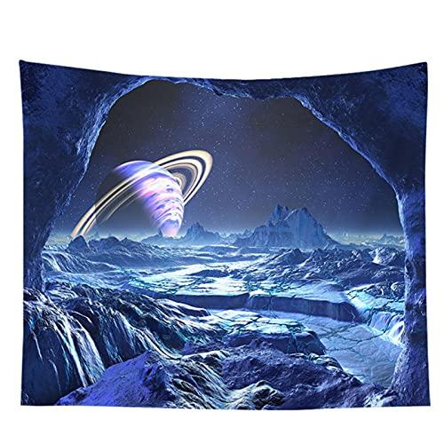 BD-Boombdl Tapiz montado en la pared universo espacial decoración de montaña TV fondo de tela para colgar junto a la cama decoración de dormitorio 70.86'x90.55'Inch(180x230 Cm)