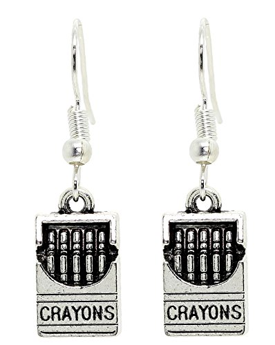 Bluebubble COLOUR MY WORLD Silver Crayon Dangle Earrings With FREE Gift Box