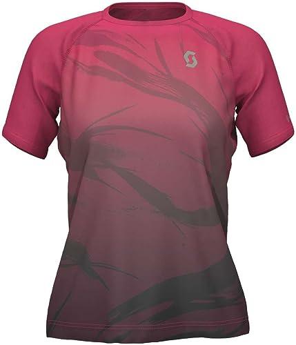 Scott SCO Shirt W S Kina Balu courir Azalea rose noir