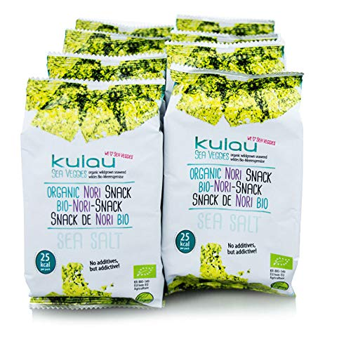 Kulau Bio-Nori-Snack Sea salt, 8 x 4g