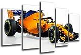 Cuadro Fotográfico Formula 1 Coches,McLaren mcl33Mclaren F12018, Fernando Alonso, Stoffel Vandoorne Tamaño total: 165 x 62 cm XXL