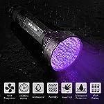 YOUTHINK UV Torch, 100 LED UV Flashlight with UV Protection Glasses, 395nm Upgraded 100 LED Flashlight Black Light Ultraviolet Lamp, Dog Cat Urine Detector, for Carpet/Floor 20