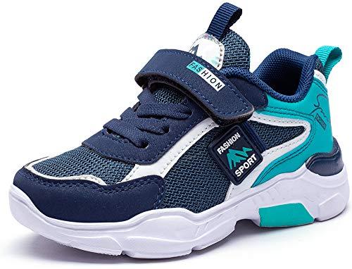 Mitudidi Jungenschuhe 33 Turnschuhe Kinder Schuhe Hallenschuhe Laufschuhe Sportschuhe Hallen Tennis Basketball Schuhe Kinder für Unisex-Kinder Blau