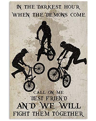 AZSTEEL - Poster BMX Fight Them Together stampato su carta di alta qualità, senza cornice, stampa perfetta per camera da letto o ufficio per familiari e amici