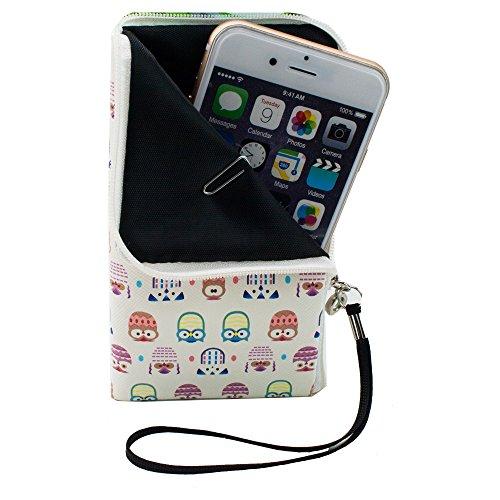 Slim Tasche Etui Reißverschluss für Mobistel Cynus E4, ZTE Blade L110, tiptel Ergophone 6180, tiptel Ergophone 6181, ZTE Blade C341, Allview P4 eMagic, Cyrus cm 7, Wiko Sunny, Sony Xperia X Compact