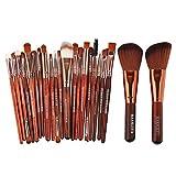 20/22 Pieces of Beauty Makeup Brush Set Cosmetic Liquid Foundation Blush Eye Shadow lip Blend Makeup Brush Tool Kit