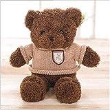 siyat Retro-Pullover Bär Plüschtier-Toy-Paar-Teddybär 38 cm Dekorationsschmuck Geschenk-Geburtstag Dunkelbraun Jikasifa