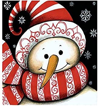 ACANDYL Paint by Number Snowman DIY Painting Paint by Number Kits for Adults Kids Beginner Christmas DIY Canvas Painting by Numbers Acrylic Painting Paint by Number Christmas Snowman 16x20 Inch