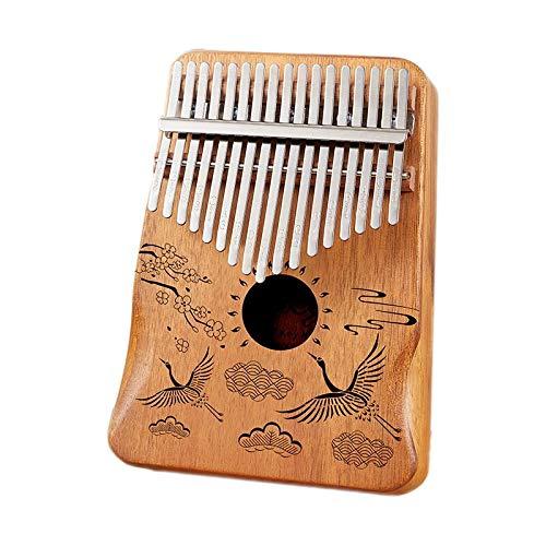 Kalimba caoba cuerpo pulgar piano 17 teclas dedo degradado azul instrumento musical mejor calidad instrumentos musicales