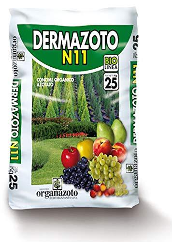 ORGANAZOTO DERMAZOTO N.11 Cuoio E Pelli IDROLIZZATE Sacco kg.25 CONCIME BIOLOGICOORGANICO AZOTATO (N11) A Lento Rilascio Naturale