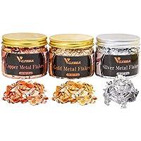 3-Pack Vgseba Metallic Flakes for Resin