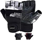EMRAH Leder-Gewichtheberhandschuhe, gepolsterte Fitnesshandschuhe, atmungsaktiv & ultraleichte...