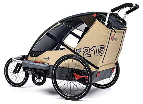 Leggero Vento R Kinderanhänger, Farbe:surf, Ausstattung:Active (Jogger- & Buggyset)