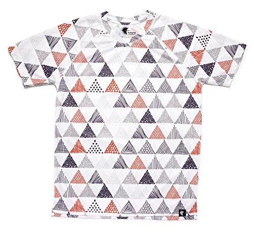 HOOPOE Camiseta Running Estampada Mujer, Manga Corta, Gimnasio #Triangles Talla L