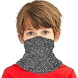 Verctor Silver Flake Glitter Gesichtsschutz Schal Banane Magic Stirnbänder für Jungen Mädchen Teenager, Sturmhaube Hals Gamasche