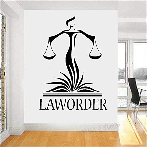 CDNY Anwaltskanzlei Wall Decal Applique Rechtsanwalt Gerechtigkeit Waage Gericht Aufkleber Modern Home Interior Wallpaper 56X77 cm