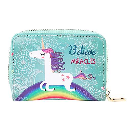 BIGBOBA Unicornio Mini Monederos-Unicornio Pequeñas Cartera Bolsa Lindas Bolsas Monederos Embrague Zipper Billetera para Mujer/Niña/Niños de Mini Bolsa de Almacenamiento