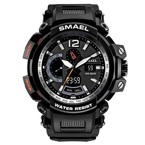 Poachers Watches,Smael Mode MäNneruhr FüHrte Digitale Elektronische Sport Armbanduhren Der Doppelanzeige