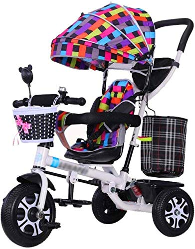 Lowest Price! 【New Upgrade】 Pushchairs Pushchair Children's Stroller Trike Parent Push Tricycle ...